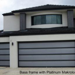 Bass frame with platinum makralon