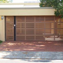 Batten style door with matching side gate