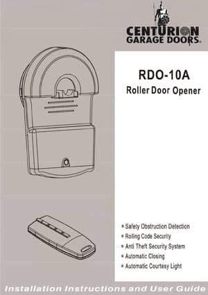 RDO10A Roller Door Opener – Owners Manual