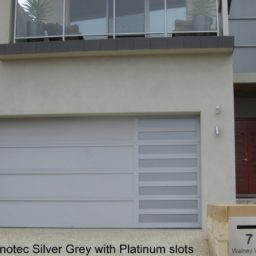Sidelight anotec silver grey with platinum slots