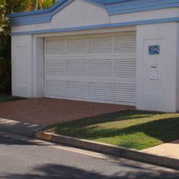 White louver panel door