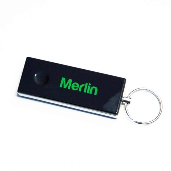 merlin SLIDING COVER shut Merlin E950M 4-Button Key-Ringed Style Remote With Sliding Cover