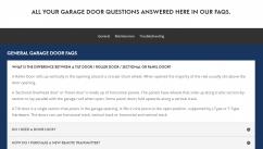 centurion garage door faqs