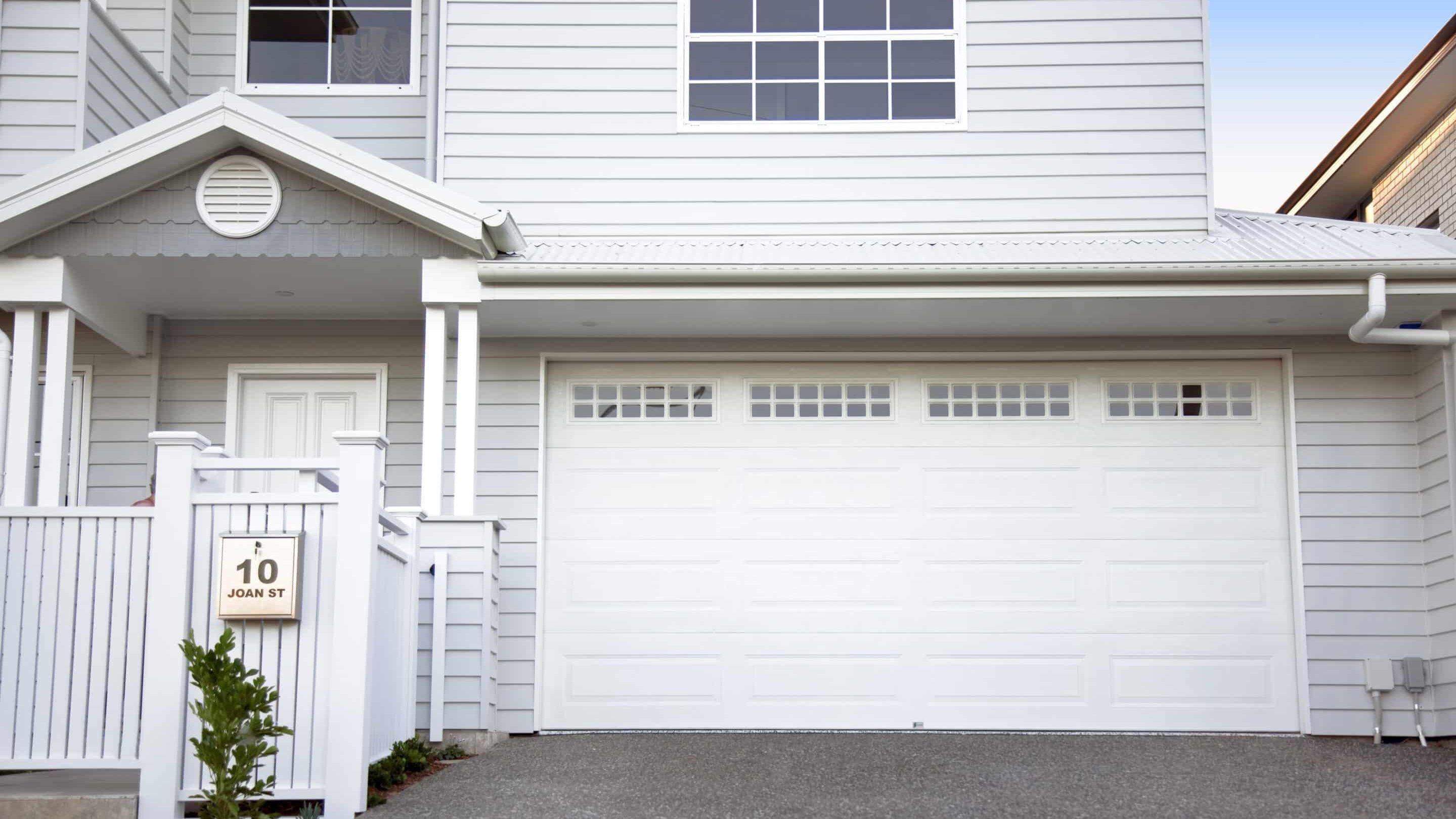 Centurion Hamptons White Garage Door on a Large House