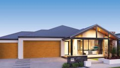 Stylish House with Centurion Garage Doors New TimbaLook colour garage door