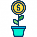 Pot Plant With Dollar Sign
