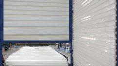 Hamptons White Centurion Roller Garage Door During Manufacture Photos