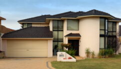 House with automatic garage roller door