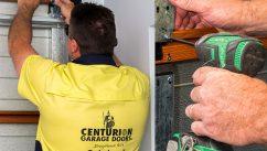 Centurion Garage Door Technician Repairing a Garage Door